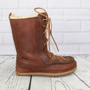 NEW LL Bean Wicked Good Lodge Boot Shearling 7